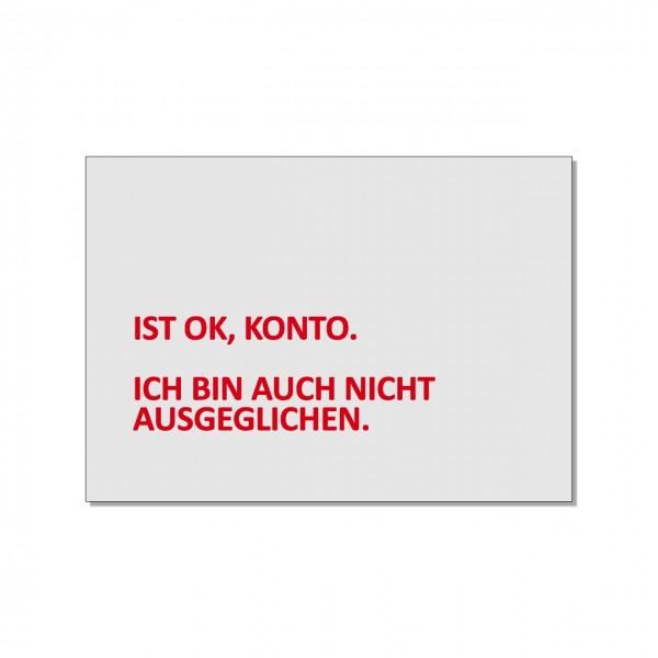 Postkarte quer, Ist OK Konto