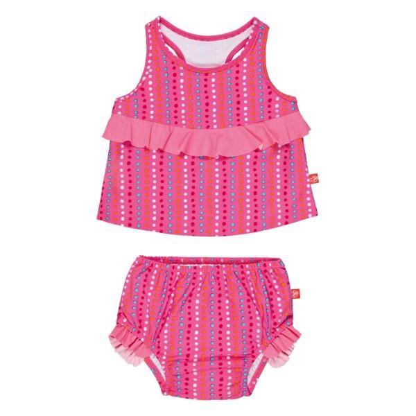 Tankini Set girls assorted, 6 Monate, zigzag peach