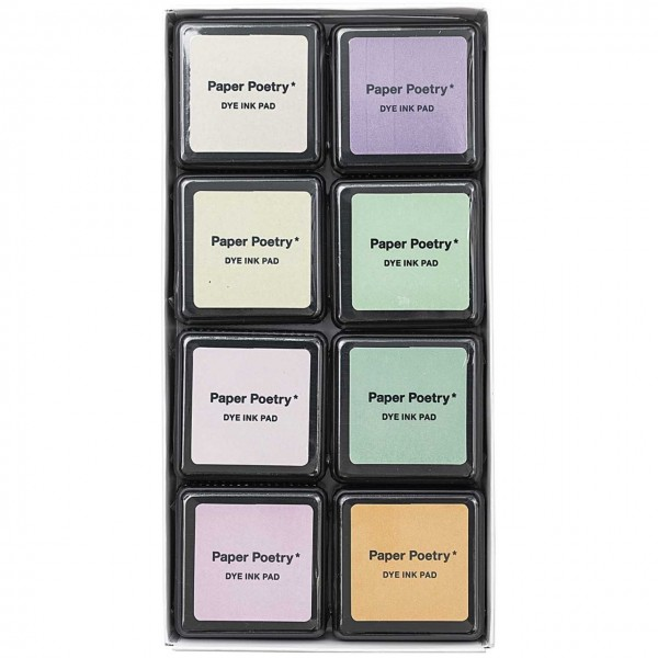 Tuschestempelkissen, pastell mix