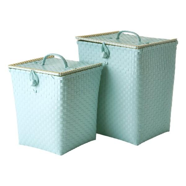 Wäschekorb 2er Set Mint