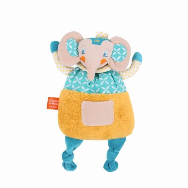 Schmusetuch blauer Elefant