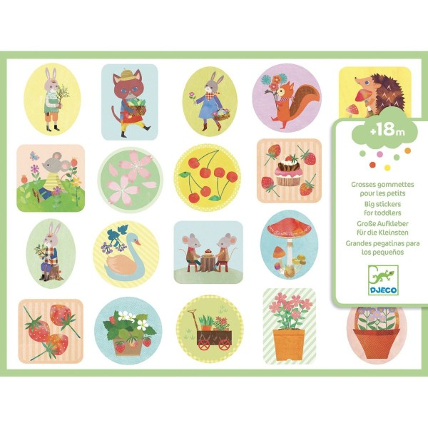 Sticker: Im Garten