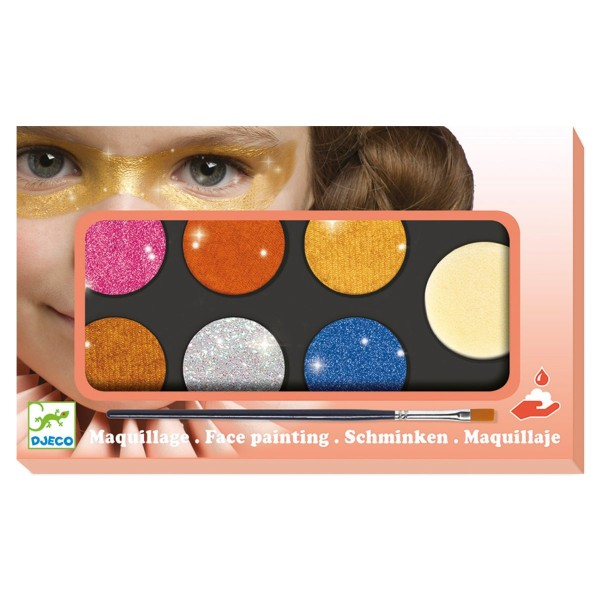 Kinderschminke  6 Glitzerfarben
