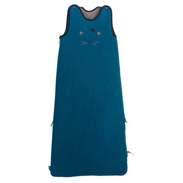 baby schlafsack katze blau 90 110 cm babyausstattung schenken und spielen. Black Bedroom Furniture Sets. Home Design Ideas