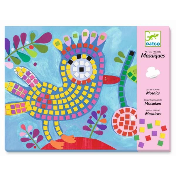 Mosaik: Vogel und Marienkäfer