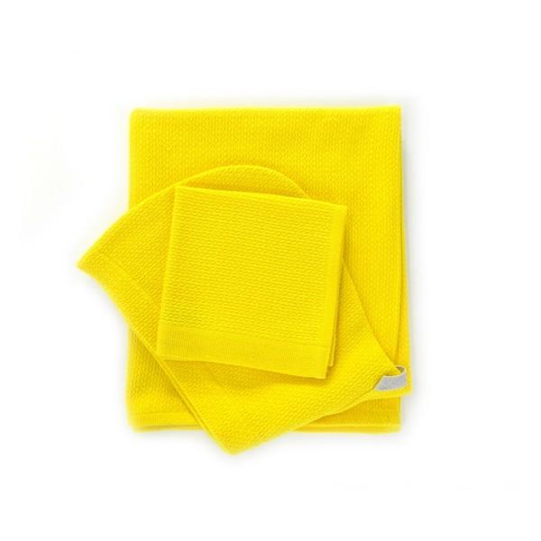 Biobu Baby-Kapuzentuch & Waschlappen Set Lemon