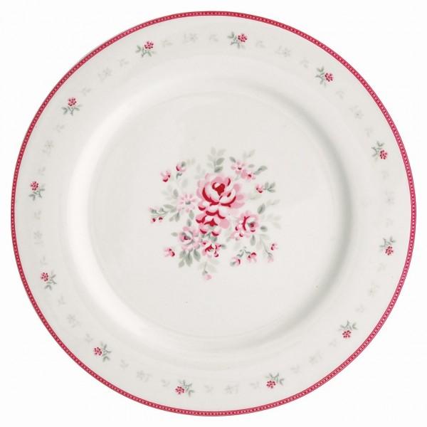 Dinner Teller Flora white