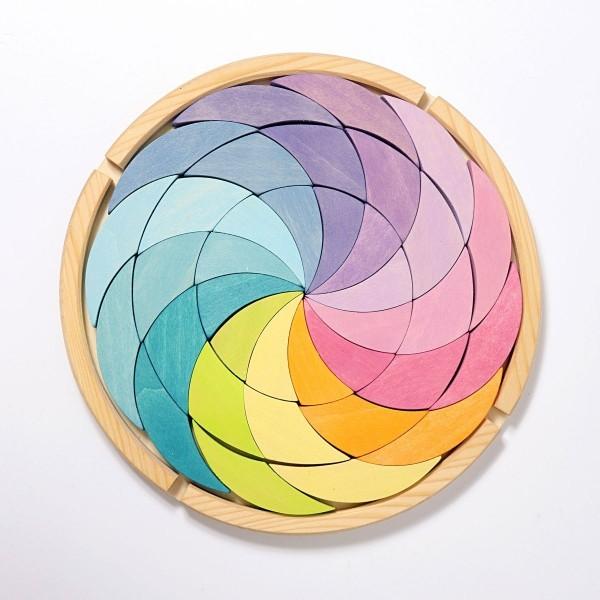 Bauspiel Farbenrad Pastell
