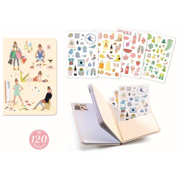 Notizbuch mit Stickern: Tinou