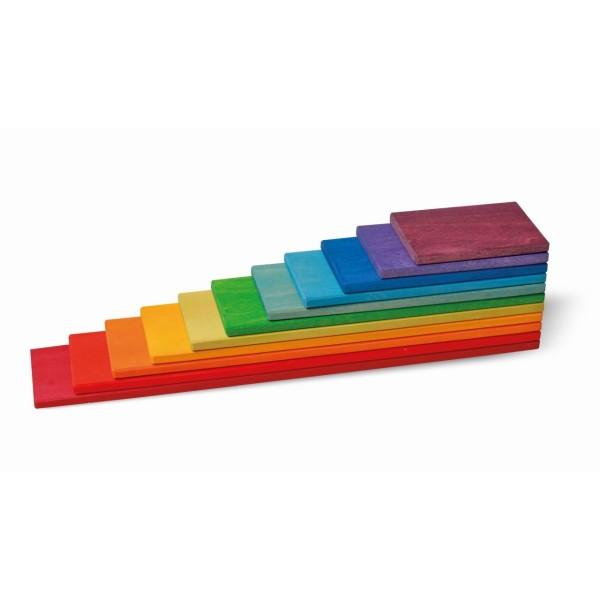 Bauplatten Regenbogen 11 Teile