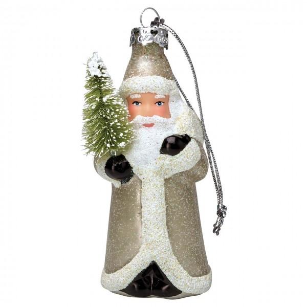 Baumschmuck Weihnachtsmann ''December'' Silber