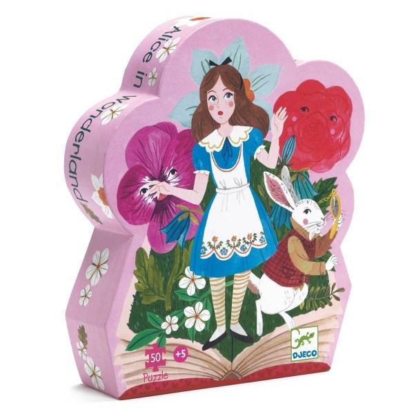 Silhouette Puzzle: Alice im Wunderland - 50Stk.