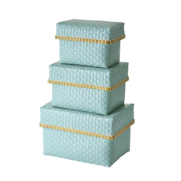 Aufbewahrungsbox 3er-Set Mint