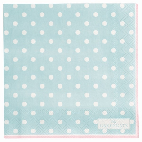 GREENGATE Papierserviette Spot klein pale blue