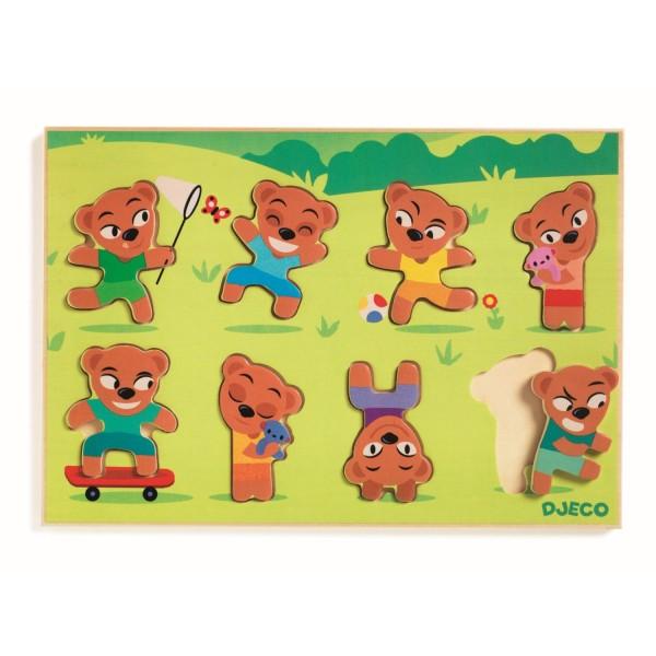 DJECO Reliefpuzzle: Teddymatch