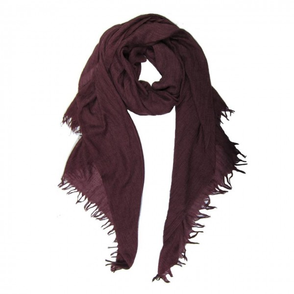 M&K Collection Schal Cotton/Wool Plum