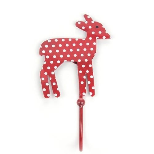 Garderobenhaken Bambi, rot gepunktet