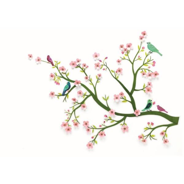 Wandsticker 3D Kirschbaum