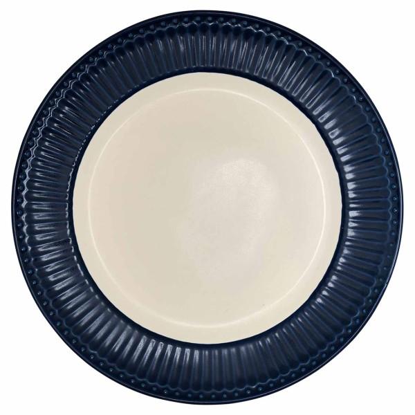 GREENGATE Dinnerteller Alice, dark blue