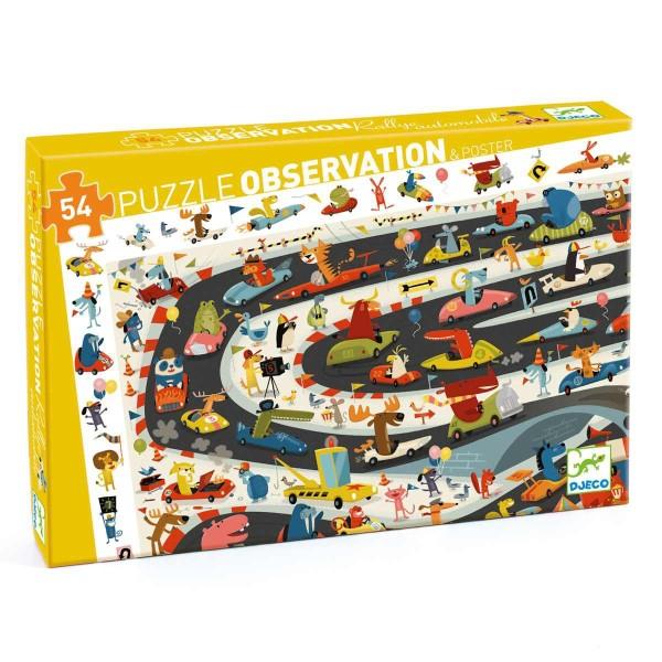 Puzzle: Auto Ralley - 54-teilig