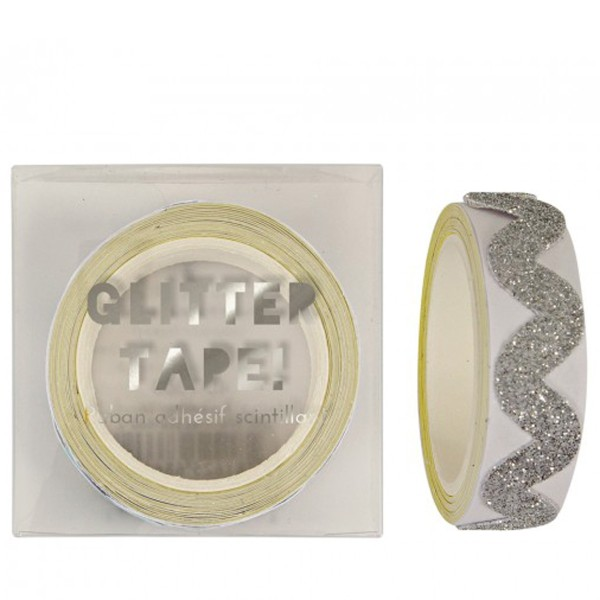 Meri Meri Glitzerband, selbstklebend, silver