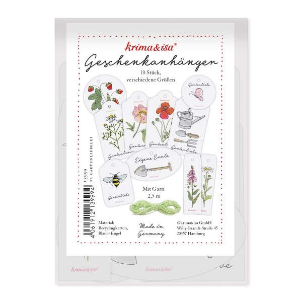 Geschenkanhänger Set Gartenliebe