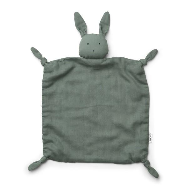 Schmusetuch Hase grün