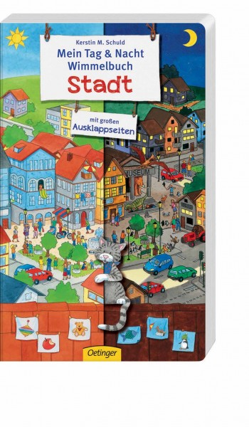 Mein Tag und Nacht Wimmelbuch Stadt