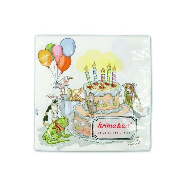Serviette Geburtstagstorte