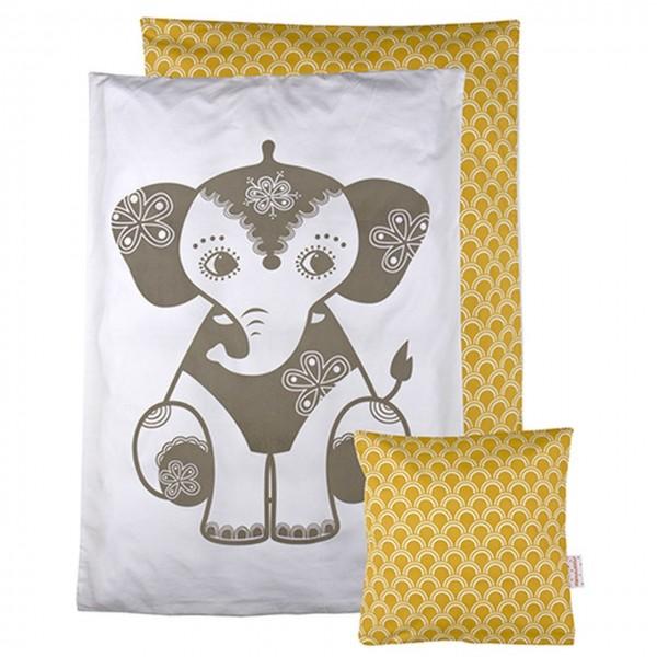 Puppen Bettwäsche Elefant