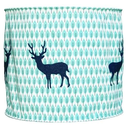 Lampenschirm blauer Hirsch
