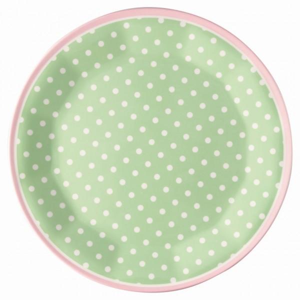 Melamin Teller Spot pale green
