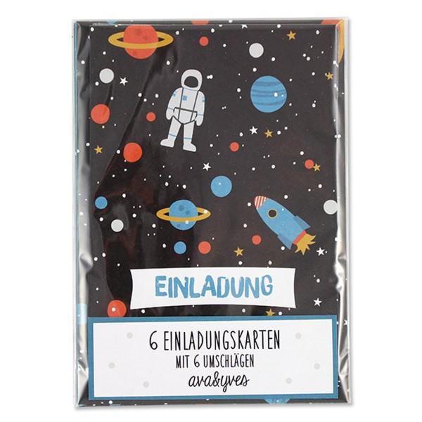 Einladungskartenset Space