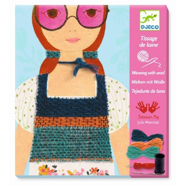 Wollbilder: Mädchen mit rosa Brille