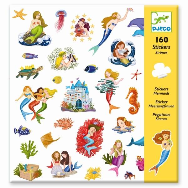160 Sticker Meerjungfrauen
