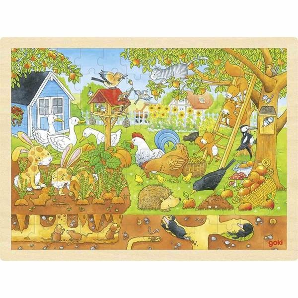 Einlegepuzzle Unser Garten