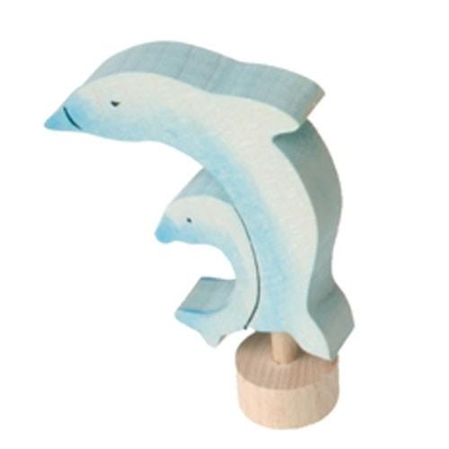 Stecker Delfin mit Baby