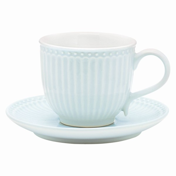 Tasse mit Unterteller Alice pale blue