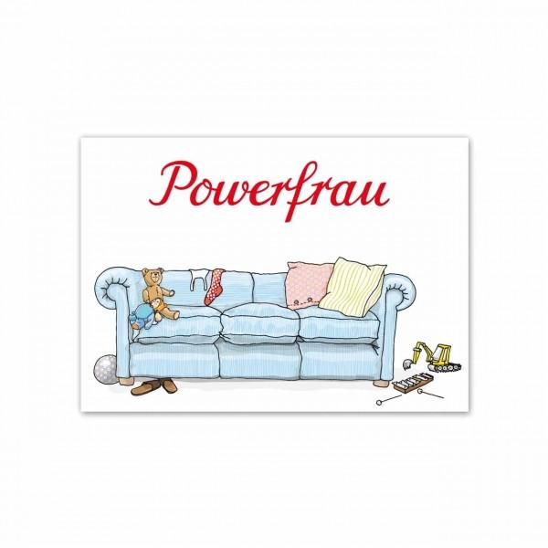 Postkarte Powerfrau