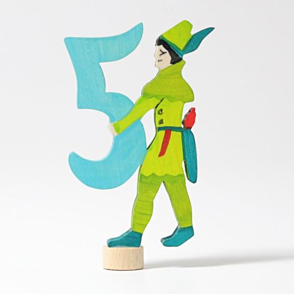 Zahlenstecker Märchen 5 Robin Hood