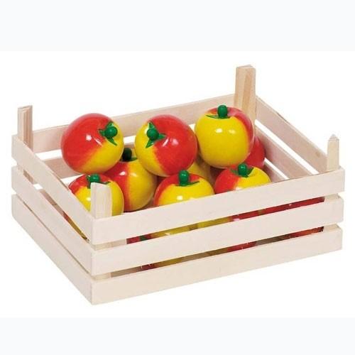 Kaufladen Holz Äpfel