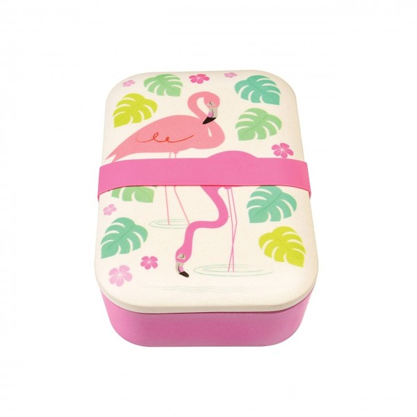 Lunchbox Bambusfasern Flamingo