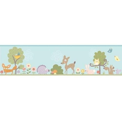 Tapetenbordüre Woodland Animals