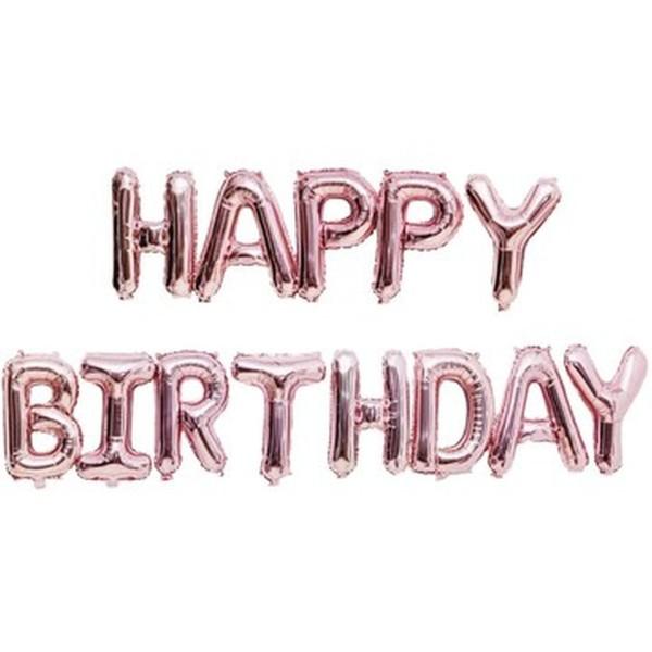 Folienballon Happy Birthday rosa