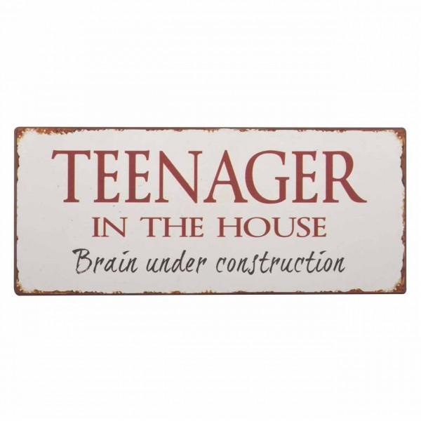 Metallschild Teenager