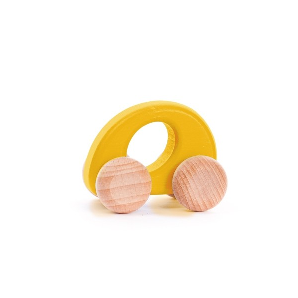 Holzauto Elipse klein gelb