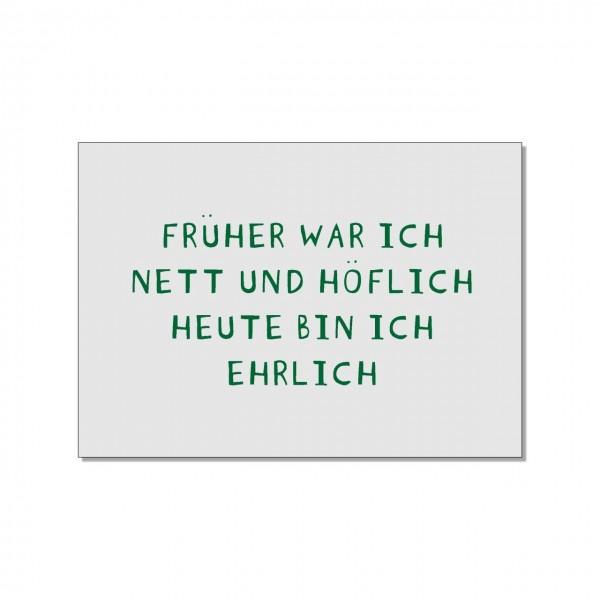 Postkarte quer, Früher