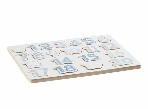 Zahlen Puzzle blau