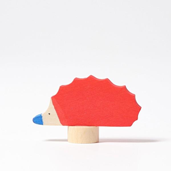 Steckfigur Igel rot