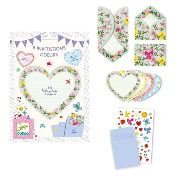 Geburtstag: Herzen Einladungskarten